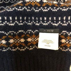 J Crew 100% wool scarf